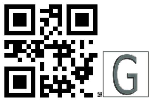Monogram G QR code