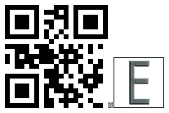Monogram E QR code