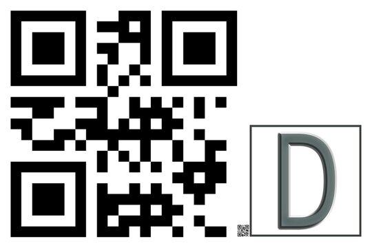 Monogram D QR code