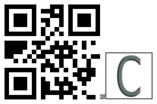 Monogram C QR code