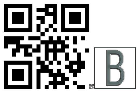 Monogram B QR code