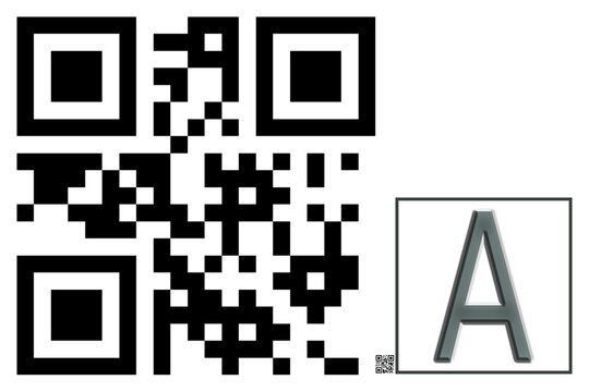 Monogram A QR code