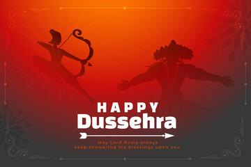 Obraz happy dussehra background with lord rama killing raavan - fototapety do salonu