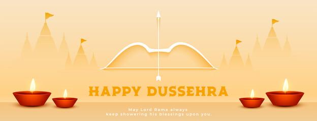 Fototapeta hindu festival happy dussehra celebration banner obraz