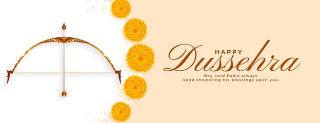 Fototapeta happy dussehra indian festival realistic banner design obraz