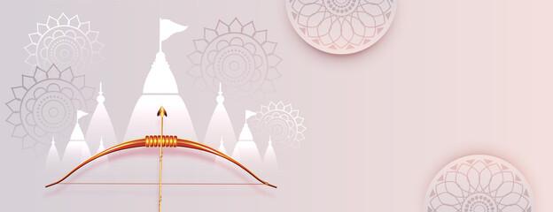 Obraz elegant dussehra festival banner design - fototapety do salonu