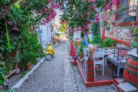Bozcaada streets and castle