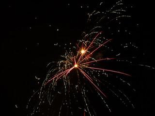 Fototapeta Fajerwerki karnawał bal sztuczne ognie sylwester zabawa kolory obraz