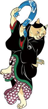 浮世絵 猫 その4