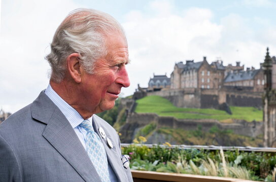 Britain's Prince Charles visits Johnnie Walker Princes Street in Edinburgh