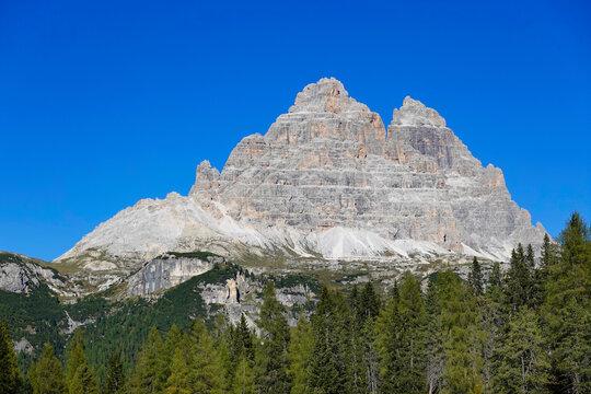 Summer landscape of Tre Cime di Lavaredo, Dolomites, Italy