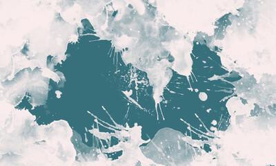 Obraz Niebieskie tło z białymi śladami farby. - fototapety do salonu