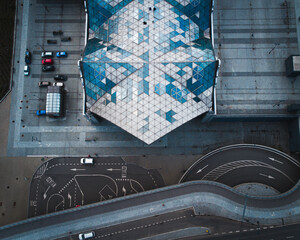 Fototapeta Mosaic roof of station obraz