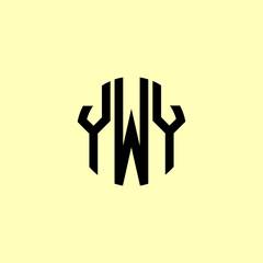 Fototapeta Creative Rounded Initial Letters YWY Logo. obraz