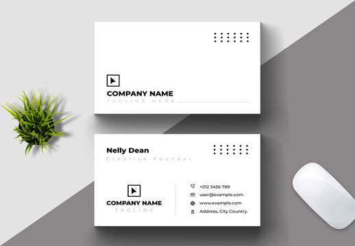 Clean and Creative Business Card Layout