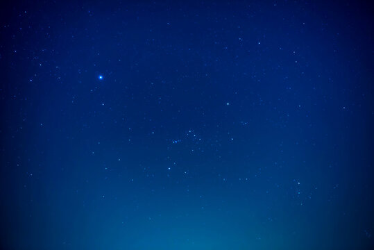 Night dark sky with bright stars as nature milky way space background