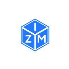 Fototapeta ZIM letter logo design on white background. ZIM creative initials letter logo concept. ZIM letter design.  obraz
