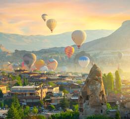 Hot air balloons launch