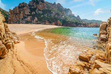 Obraz Li Cossi beach in beautiful Costa Paradiso - fototapety do salonu