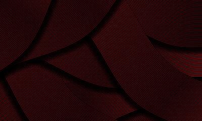 Fototapeta Abstract black red ribbon line overlap pattern luxury design creative background texture vector obraz