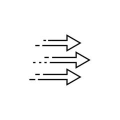 Obraz Three forward arrows icon in Transition set - fototapety do salonu