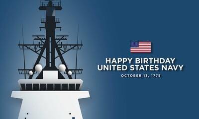 Fototapeta United States Navy Birthday Background Design obraz