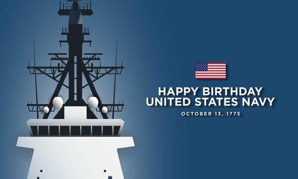 United States Navy Birthday Background Design