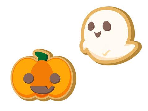 ハロウィンのクッキー  ハロウィン素材のアイコン/イラスト素材
