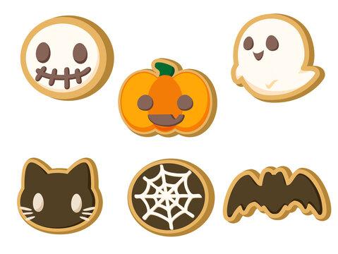 ハロウィンのクッキー セット ハロウィン素材のアイコン/イラスト素材