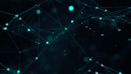 Abstract Background For Technology Themes In Green Colors