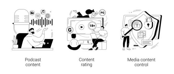 Fototapeta Engaging marketing abstract concept vector illustrations. obraz
