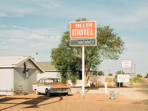 Delta Motel, on Route 66 in Winslow, Arizona