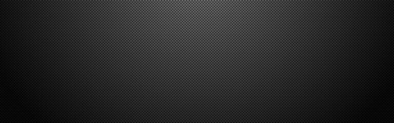 Fototapeta Carbon vertical wide. Dark fiber texture with shadow. Futuristic composite material. Realistic metal cloth. Modern technology backdrop. Vector illustration obraz