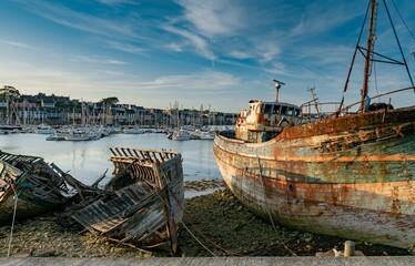 Old Fishing Boat Wrecks