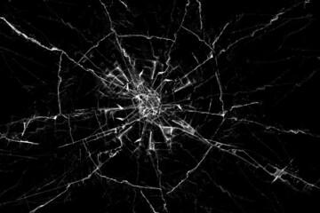 Obraz broken glass on a black background - fototapety do salonu