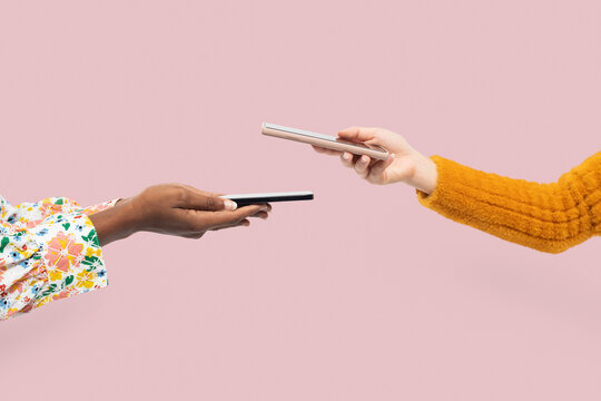 Cashless payment hands in the new normal