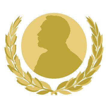 Nobel prize fantasy symbol, Sweden, vector illustration