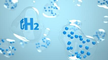 Fototapeta H2 Molecules Bubbles obraz