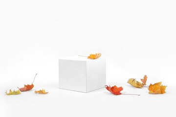 Fototapeta Mockup podium for product presentation. Abstract geometry obraz