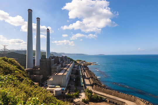 Hsieh ho Power Plant located at keelung city in taiwan