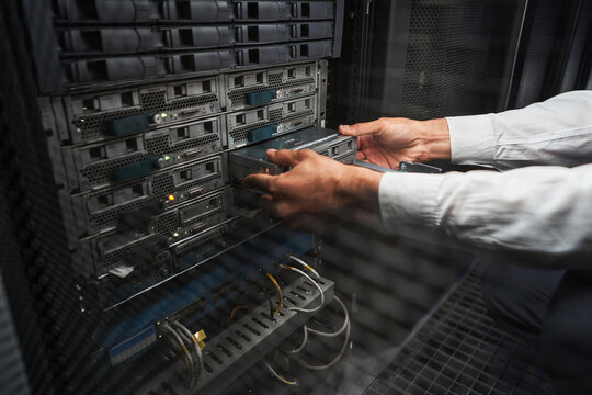 Unrecognized service engineer operating in data center