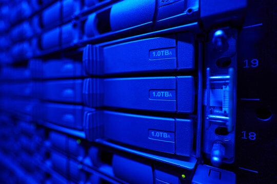 Hard drives running in the data center