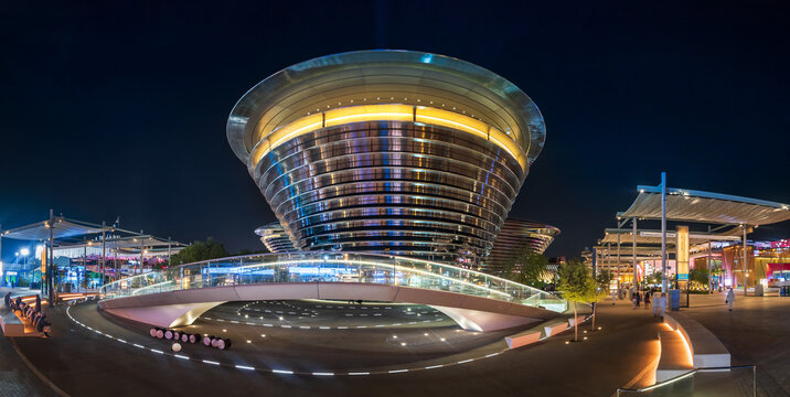 Dubai, United Arab Emirates - October 3, 2020: The Mobility Pavilion at the Dubai EXPO 2020 in the United Arab Emirates