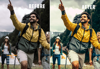 Fototapeta Before and After Photo Effect obraz