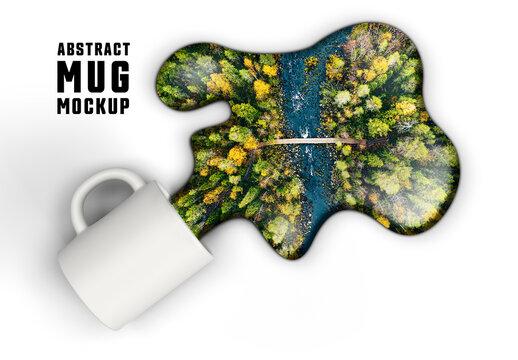 Spilled Water and Mug Mockup