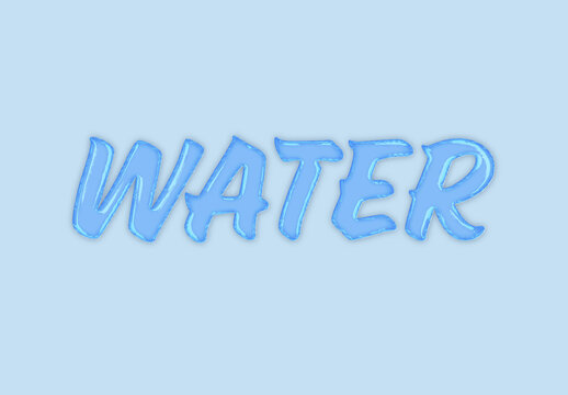 Water Style Text Effect