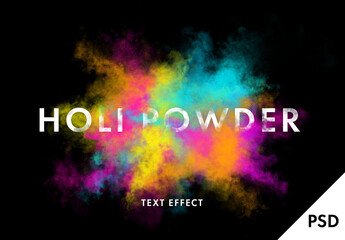 Obraz Holi Dust Text Explotion - fototapety do salonu