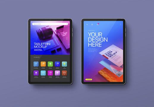 Tablet Mockup Mini Pro