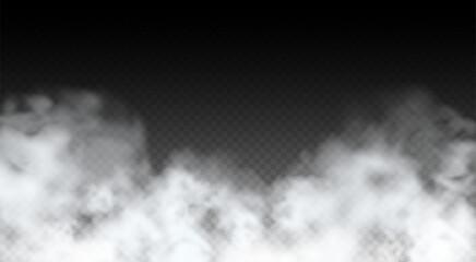 Fototapeta Vector Abstract realistic fog cloud design element obraz