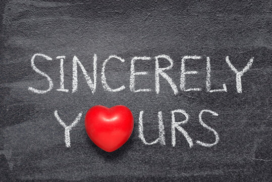 sincerely yours heart